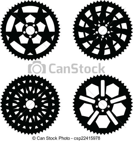 Vectors Illustration of Vector chainrings pack.