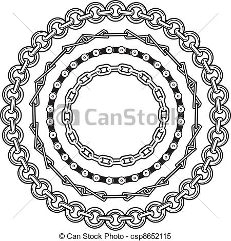 Clipart Vector of Chain Rings.