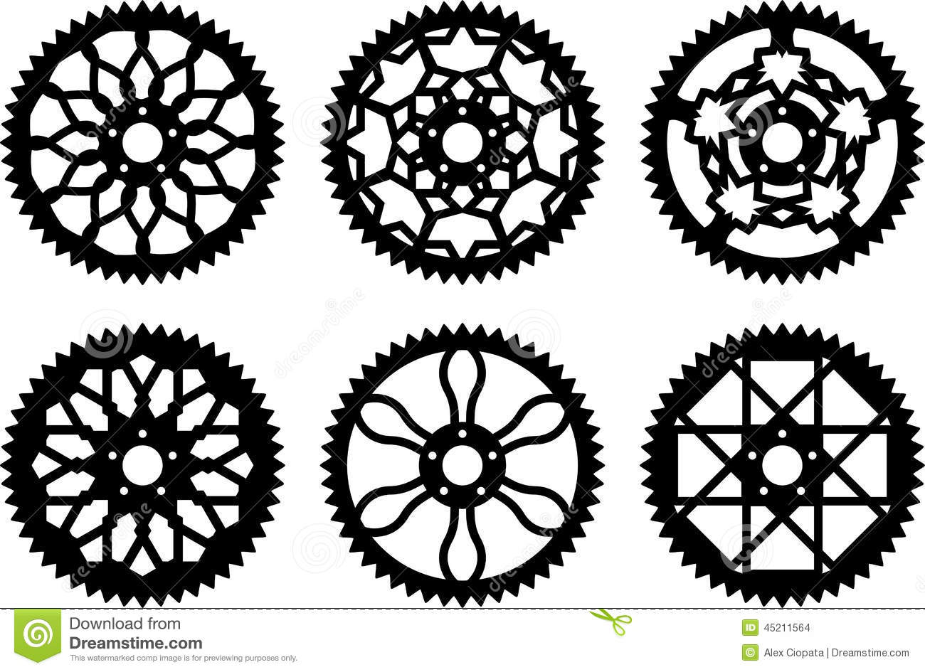 Vector Chainrings Pack Stock Vector.