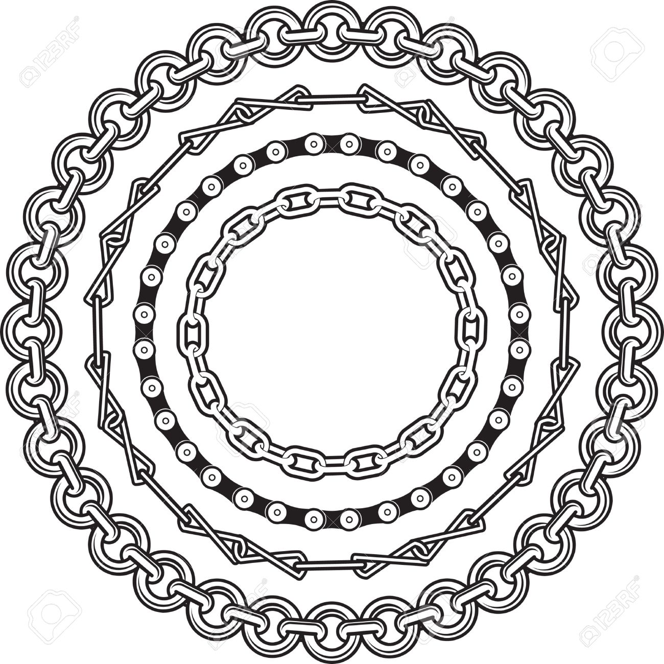 Chain Rings Royalty Free Cliparts, Vectors, And Stock Illustration.