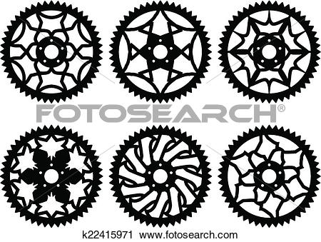 Clipart of Vector chainrings pack k22415971.