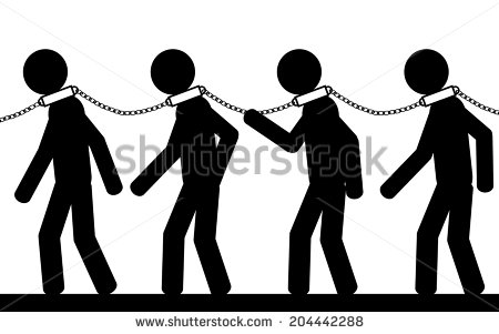 Clip Art Person In Chains Clipart.