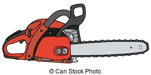 Vector Illustration of Black Lumberjack cuts a tree by chainsaw.