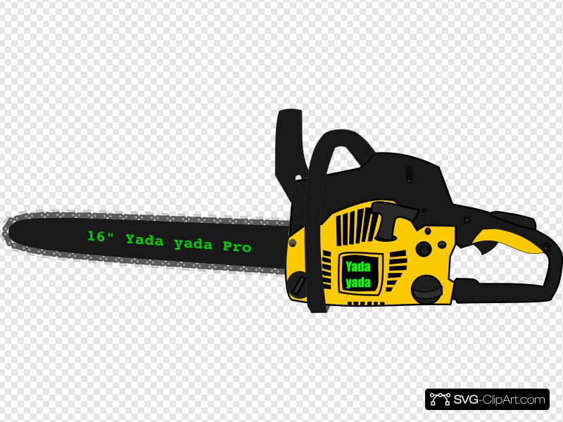 Chainsaw Clip art, Icon and SVG.
