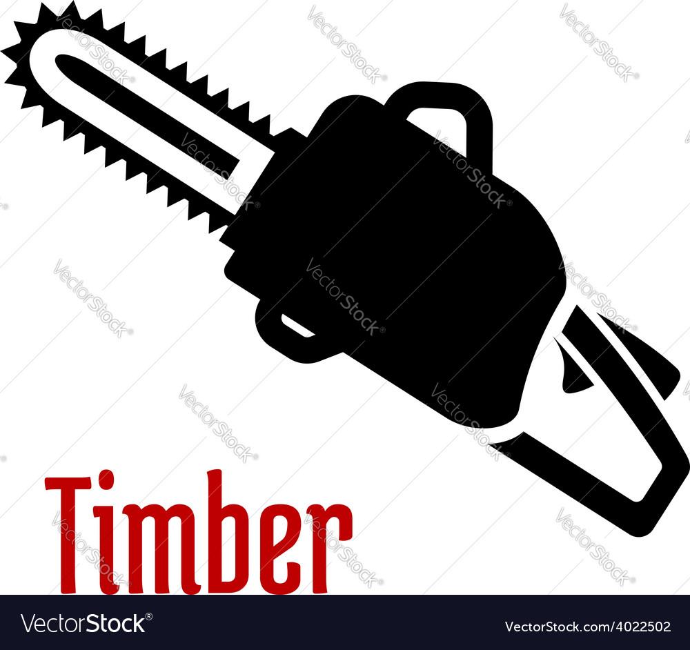 Black petrol chainsaw logo or emblem.