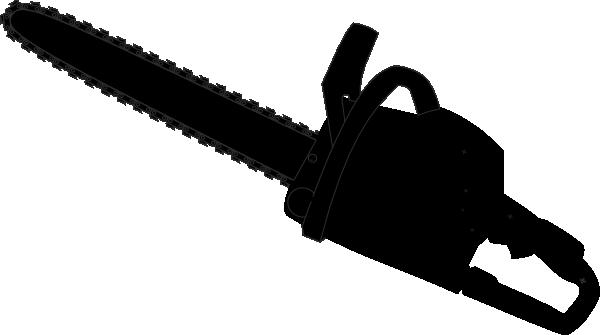 Chainsaw Black Outline Clip Art at Clker.com.