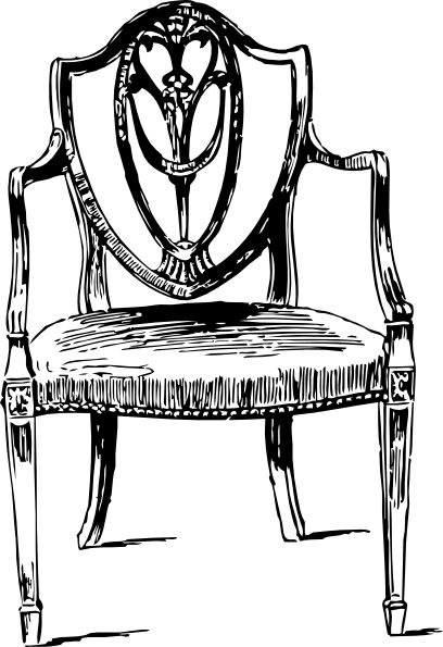 table and chairs clipart.
