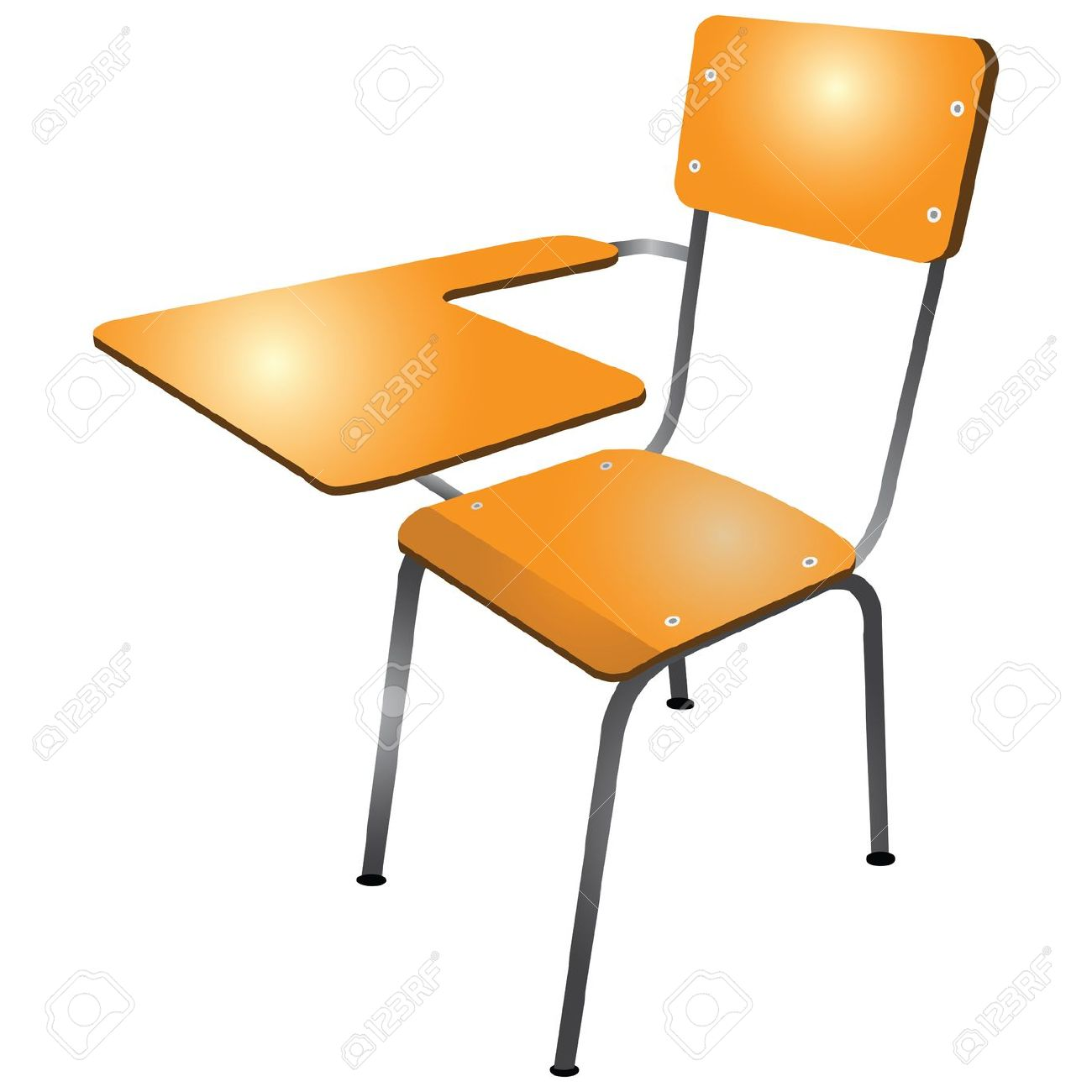 School student tipping his chair clipart.