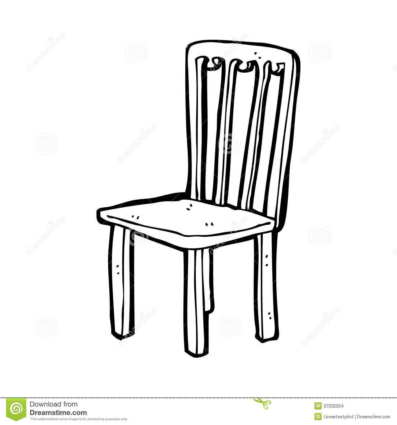 Black And White Chair Clipart.
