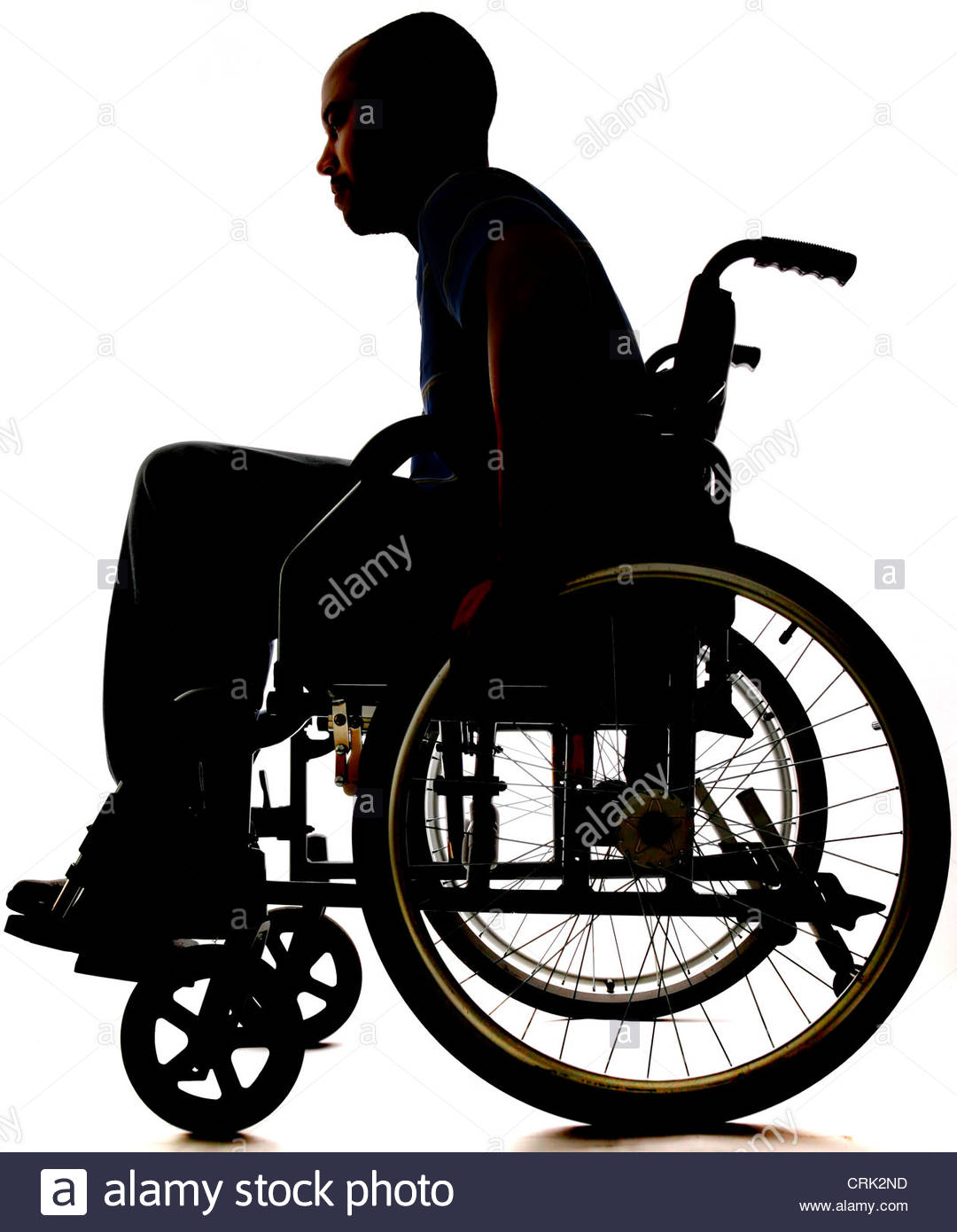A Young Man Wheel Chair Bound Stock Photo, Royalty Free Image.