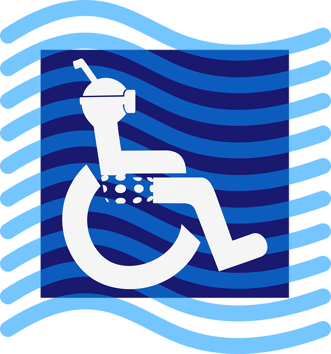 Free vector graphic: Disabled, Diver, Wheel Chair.