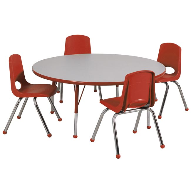Round table with chairs on it clipart.