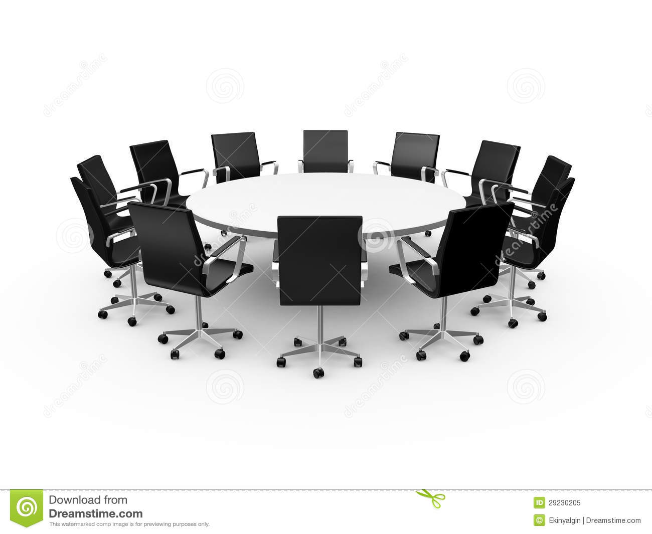 Conference Table And Office Chairs Royalty Free Stock Photo.