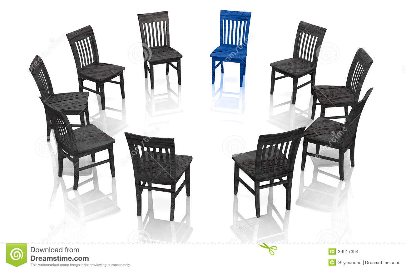 Blue Chairs Circle Royalty Free Stock Photo.