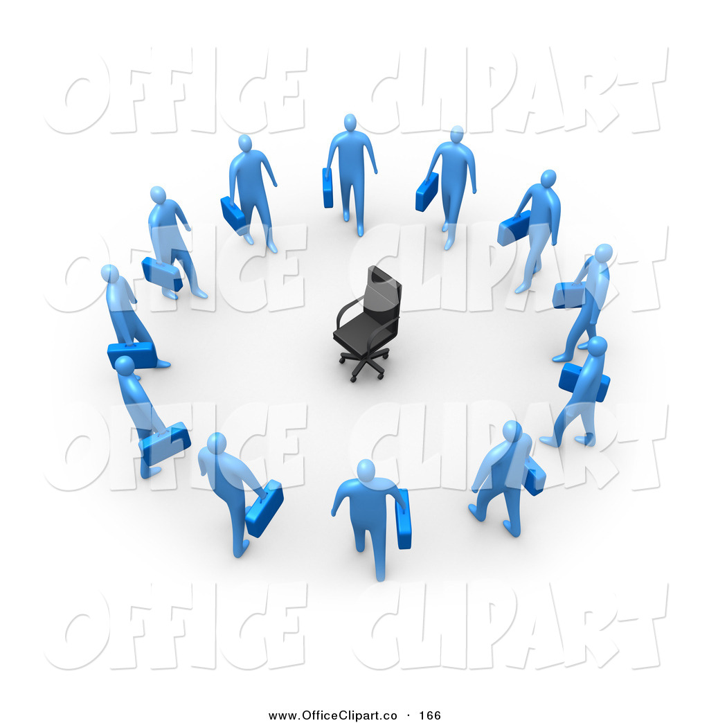 Clip Art of a Empty Black Chair, Symbolizing Career Opportunities.