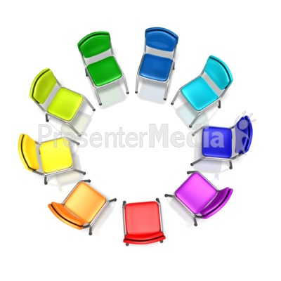 Colored Chairs Diversity Circle.