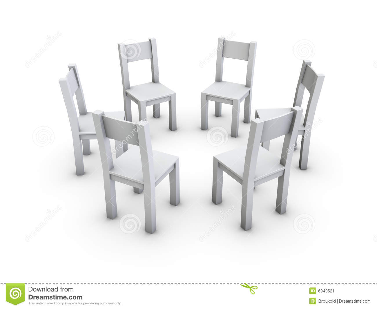 Chairs Circle Stock Illustrations.