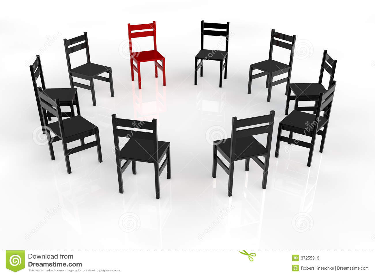 Group Session Meeting Chairs Circle Discussion Royalty Free Stock.