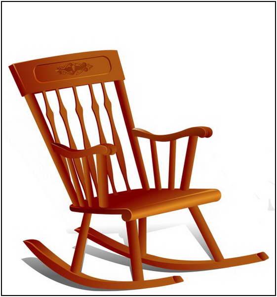 Rocking chair clip art.