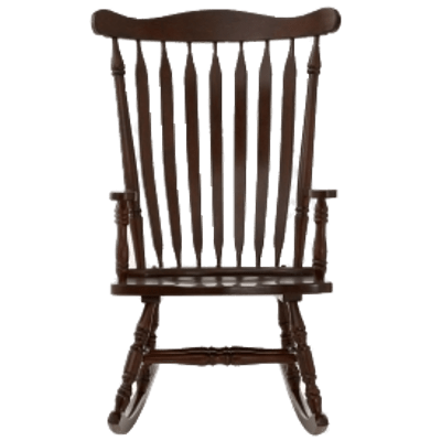 Rocking Chair Front View transparent PNG.