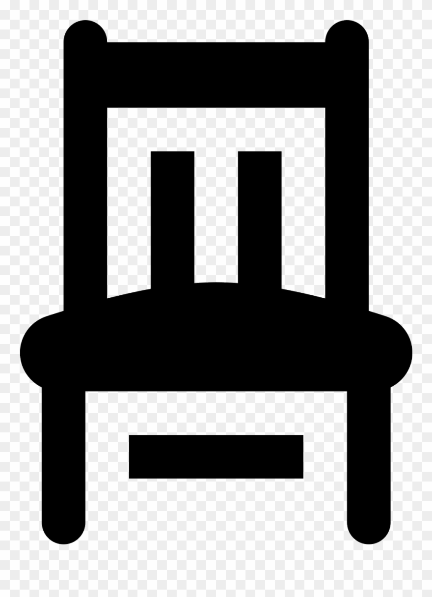 A Front Profile View Of A Chair.