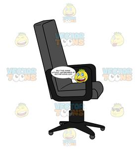 Front View Of An Office Chair.