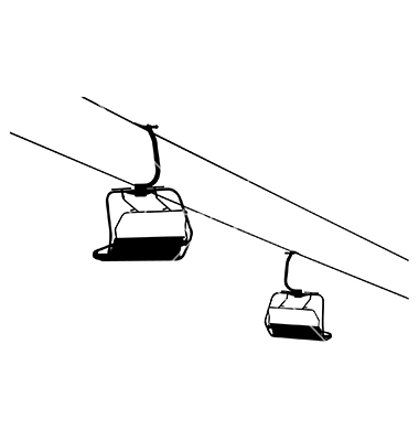 Chairlift vector by rheyes.