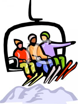 Ski Lift Clipart.
