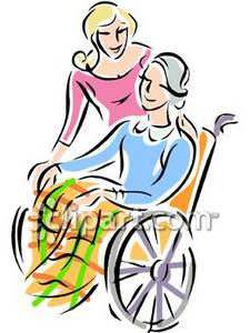 Free clip art disabled person.