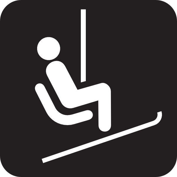 Chair Lift Ski Lift Black Clip Art At Clker Com Vector Clip Art.