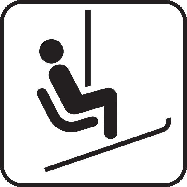 Ski Lift Chair Clipart.