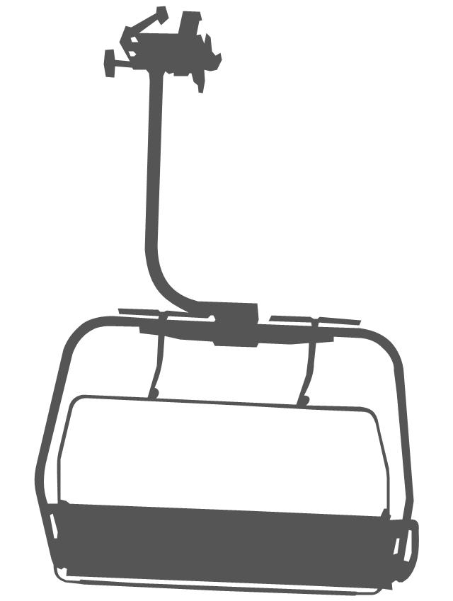 Ski chairlift clipart.