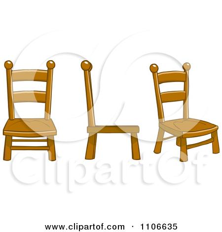 Cartoon chairs clipart.