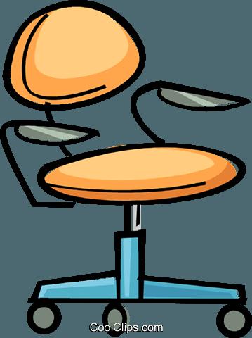 office chair Royalty Free Vector Clip Art illustration.
