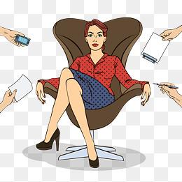 Boss clipart female boss, Boss female boss Transparent FREE.