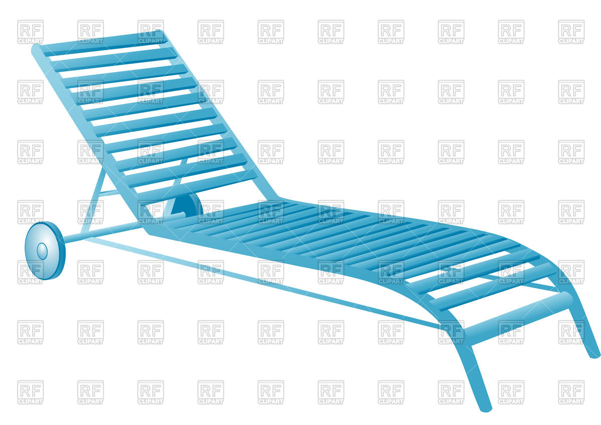 Swimming pool deck chair.