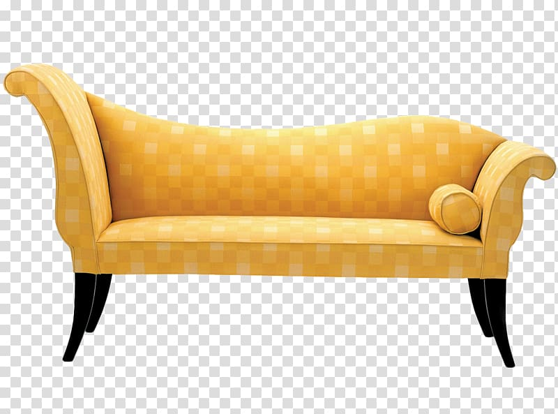 Table Couch Furniture Living room Chaise longue, sofa transparent.