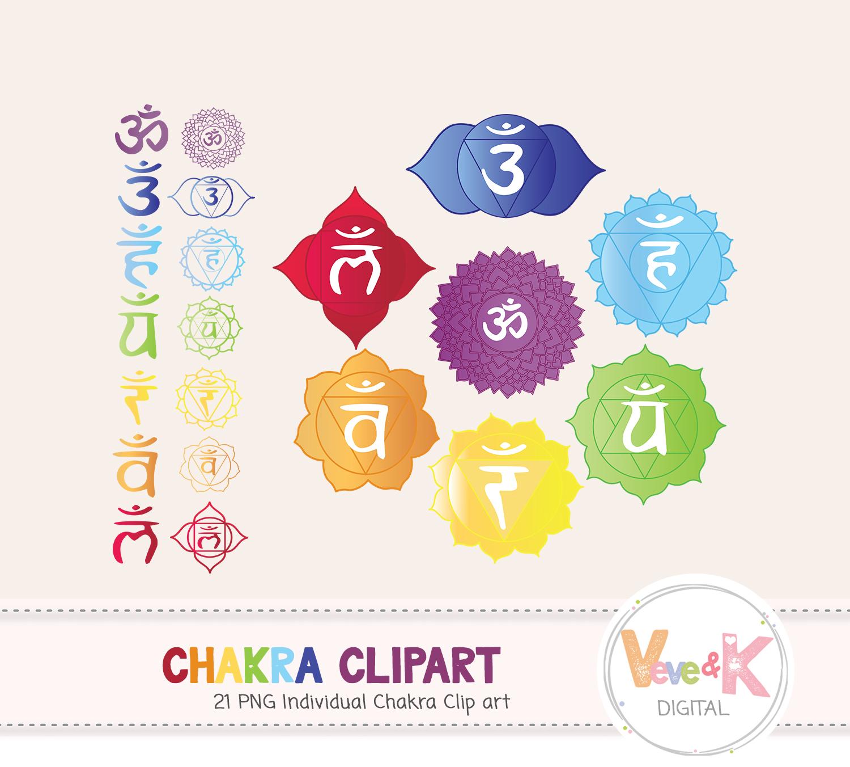 Chakra Clipart, Chakra Set, Mandala Clipart, Rainbow Clip Art, Yoga Clip  Art, The seven chakras, Chakra Set, Mandala Set,.