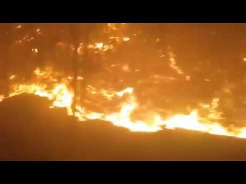 Chalet Village on Fire in Gatlinburg.