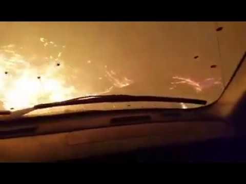 Chalet Village on Fire in Gatlinburg, TN.