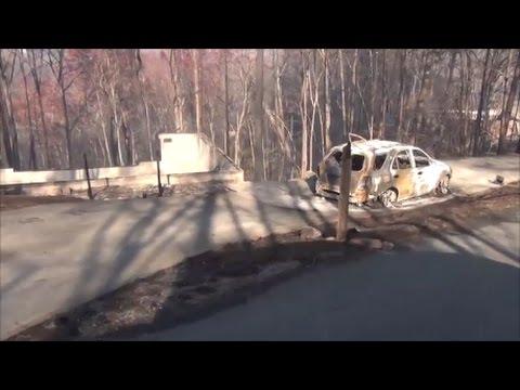 Chalet Village Gatlinburg Fire Damage.