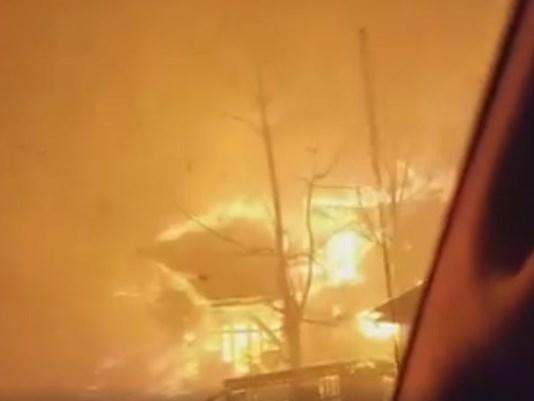 Shock, horror, hope: Residents, visitors describe fleeing flames.