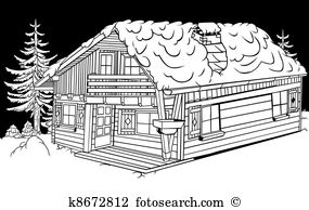 Chalets Clipart Vector Graphics. 329 chalets EPS clip art vector.
