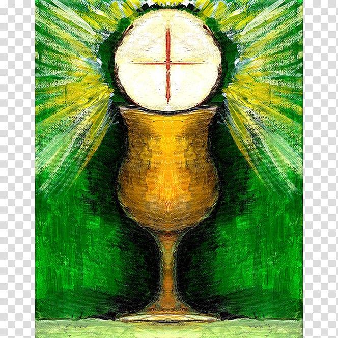 Eucharist Painting Paten Chalice Still life, painting transparent.