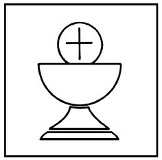 Eucharist and chalice clipart.