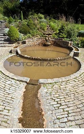 Picture of The Vesica Pool in the Chalice Well Gardens k15329007.