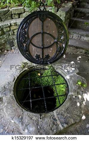 Picture of The Chalice Well in Glastonbury k15329197.