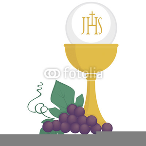 Chalice With Host Clipart.