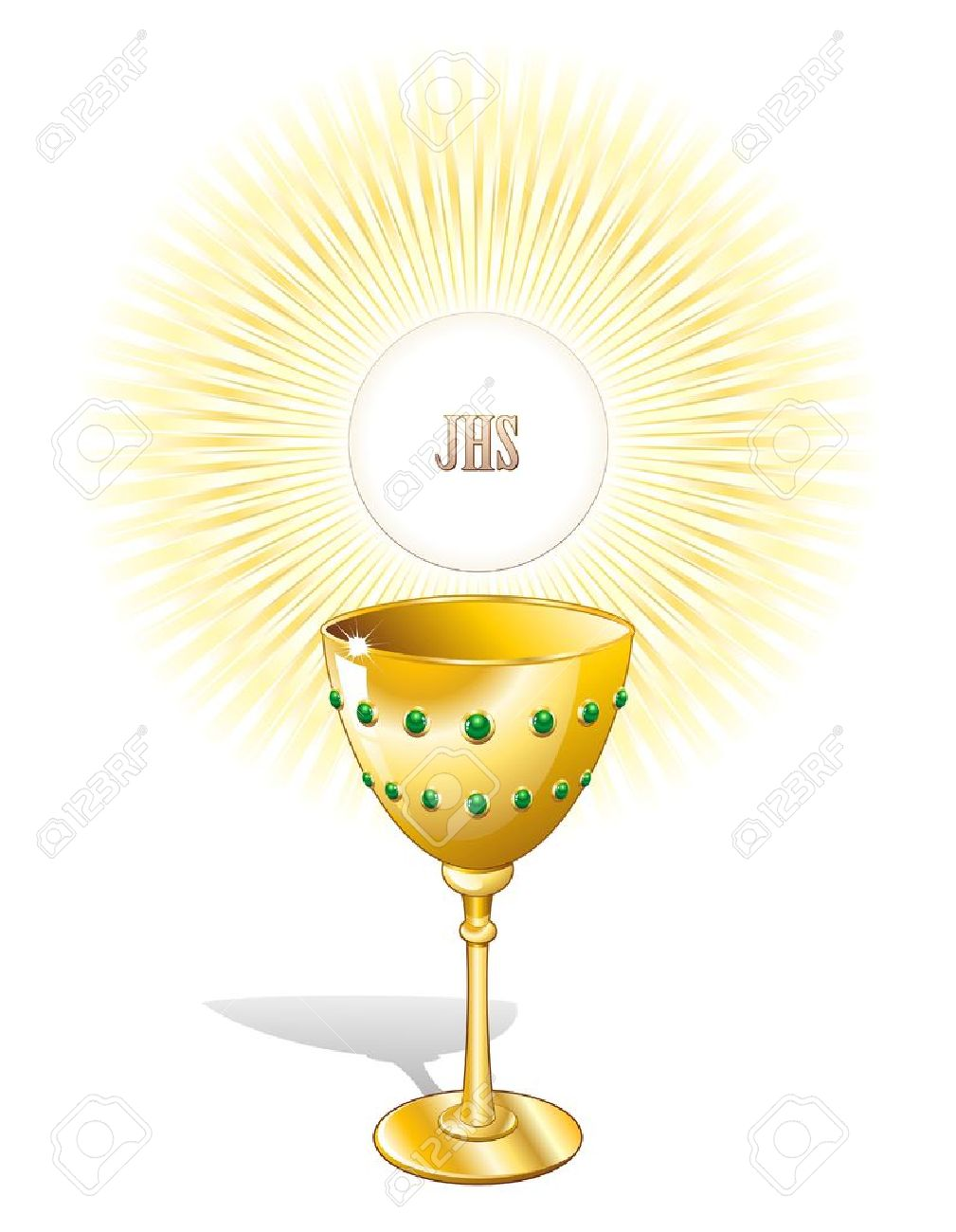Religion Chalice Cup and Host.