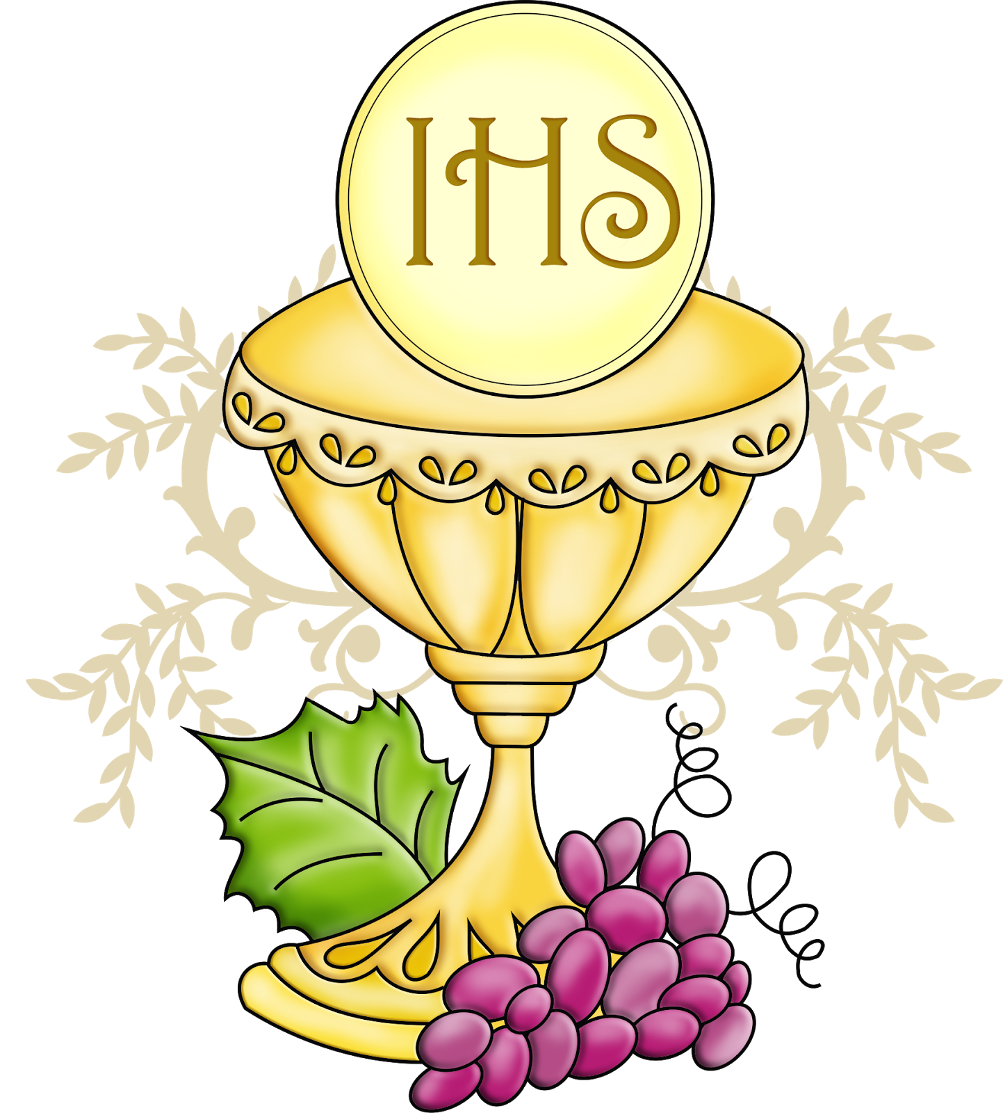 Best Chalice And Host Clip Art Drawing ~ Vector Images Design.